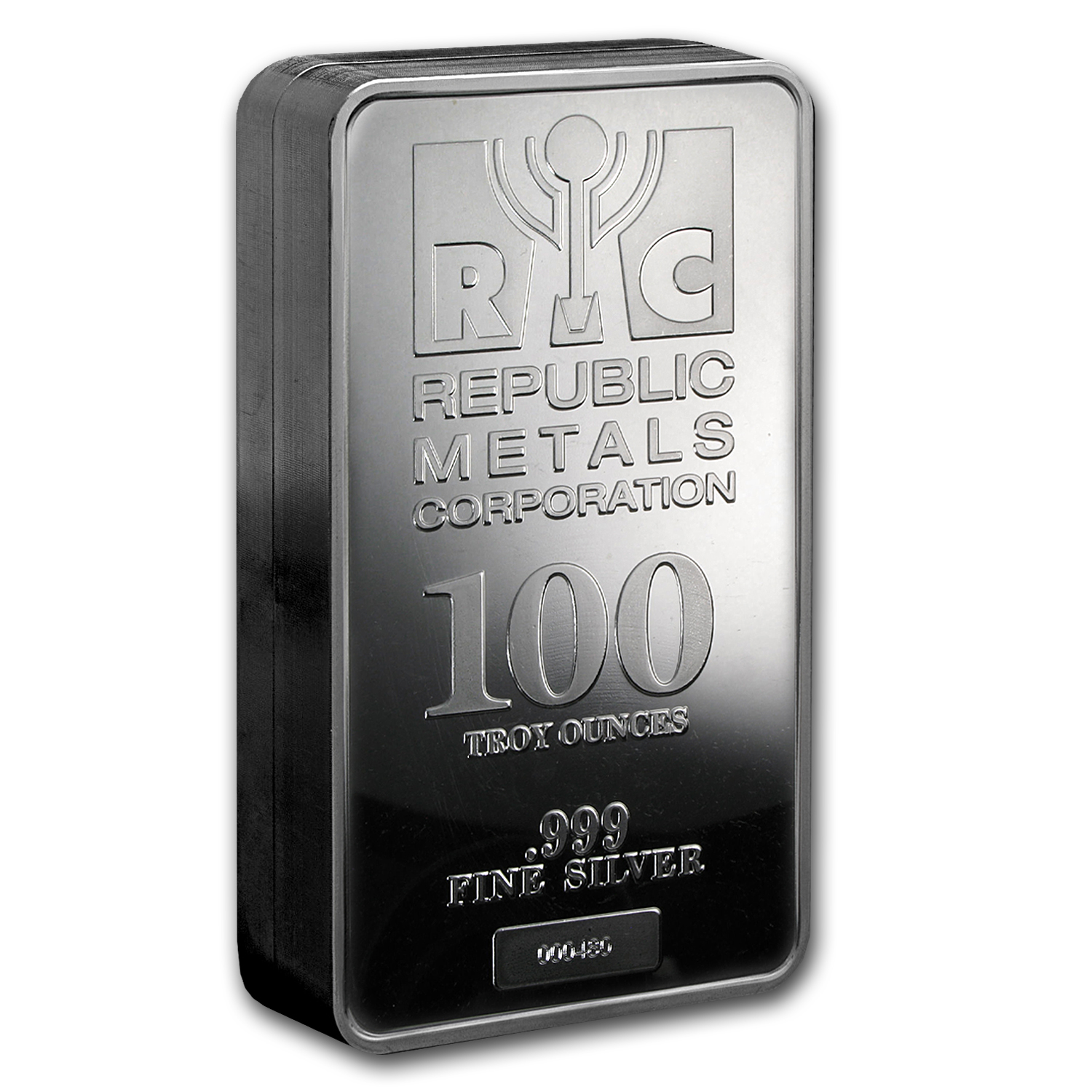 100 oz Silver Bar - Republic Metals Corp.